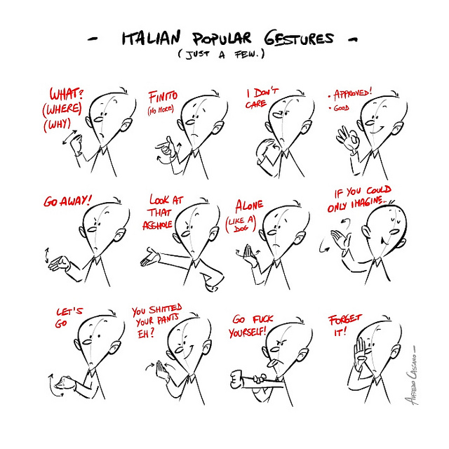 'Popular Italian Gestures' by  methodshop .com