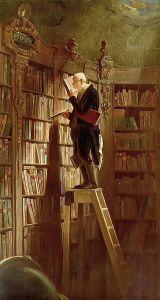 De boekenworm - Carl Spitzweg