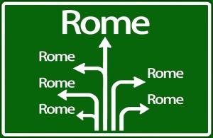 Vele wegen leiden naar Rome...